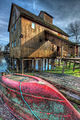 The red boat in front of water mill-theodevil.jpg