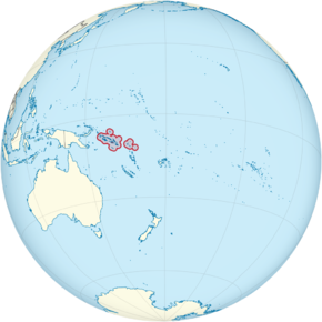 Solomon Islands on the globe (small islands magnified) (Polynesia centered).png