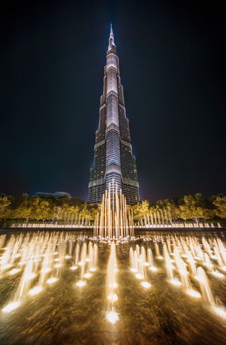 The Burj Khalifa set several world records: World's tallest structure that includes residential space.