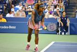 Serena Williams bojuje v 1. kole US Open 2013