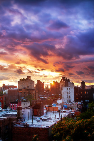 Dissipate, USA, New York, New York City, West Village Rooftop, Sunset After Hurricane.jpg