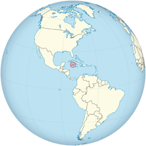 Cayman Islands on the globe (Americas centered).png